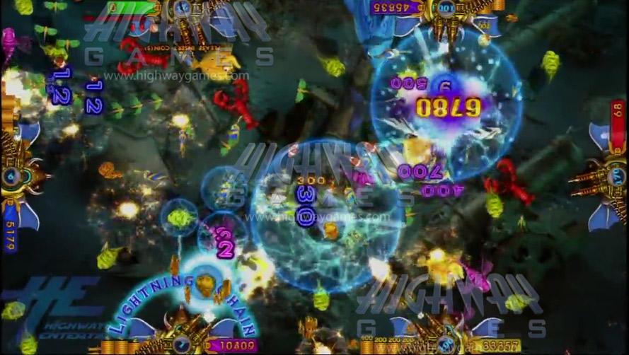 king-of-treasures-arcade-machine-lightning-chain-Gameplay